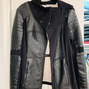 Blanc Noir Leather Sz L Jacket